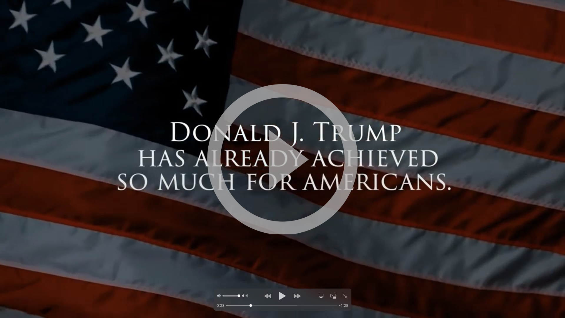 Promises Made, Promises Kept. Play the video of President Trump's promises